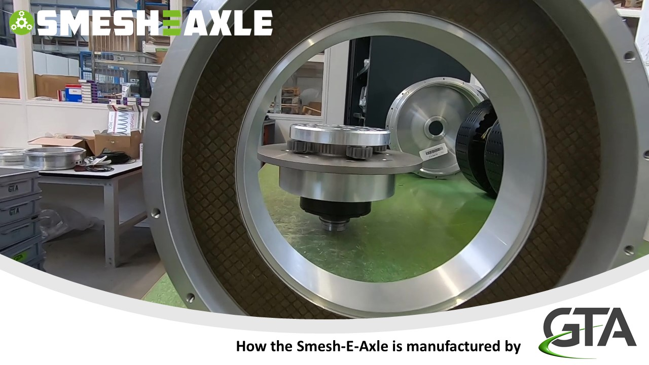 Smesh-E-Axle shifts to first gear!