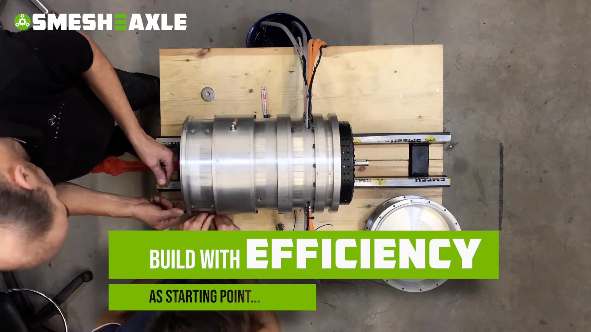Smesh-E-Axle prototype ready!
